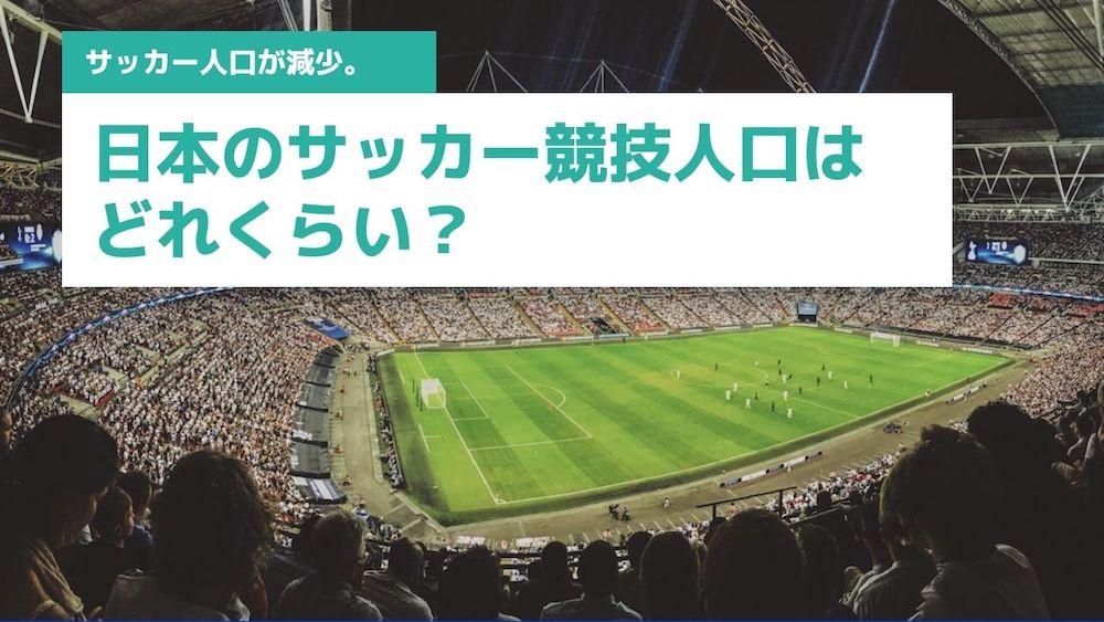日本のサッカー競技人口はどれくらい?の画像